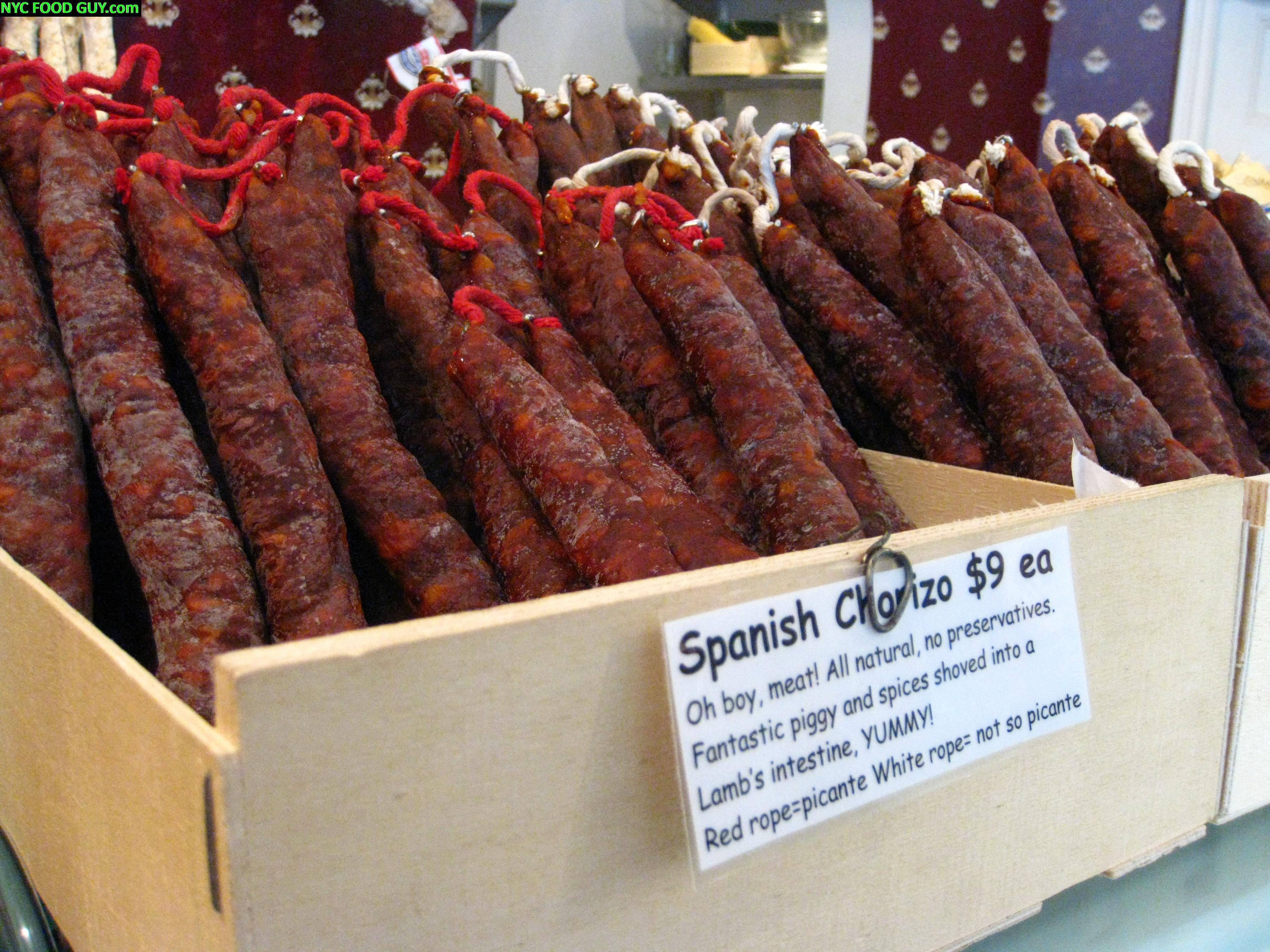 Spicy & Mild Chorizo at Bedford Cheese Shop