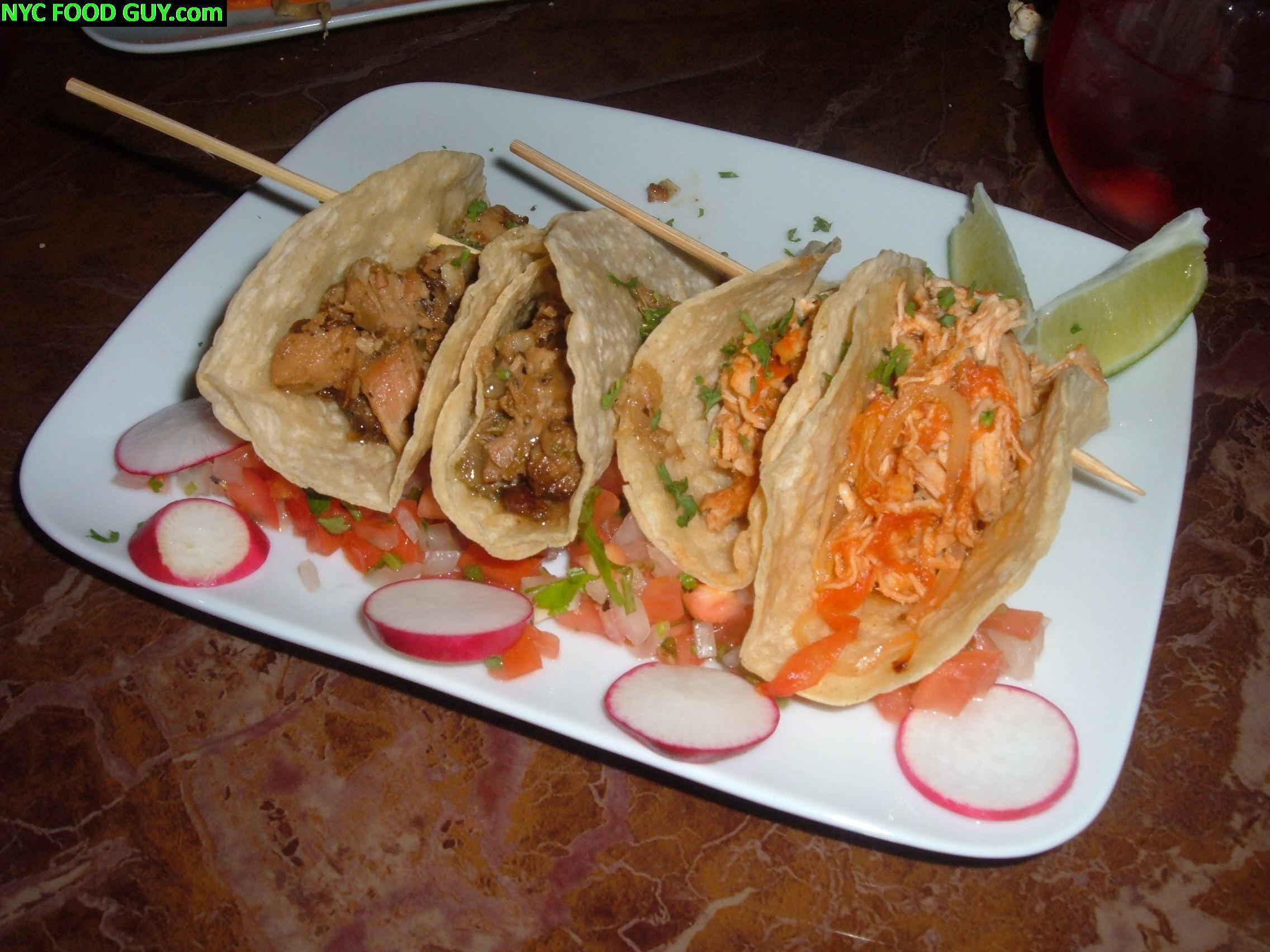 Pork (left) & Chicken (right) tacos