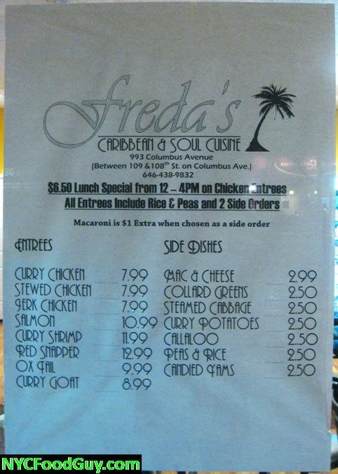 Freda's NYC Food Guy.com