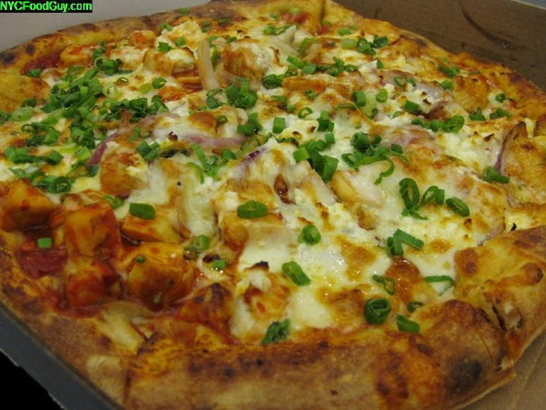 Cafe Duke Spicy Chicken Pizza - NYCFoodGuy.com