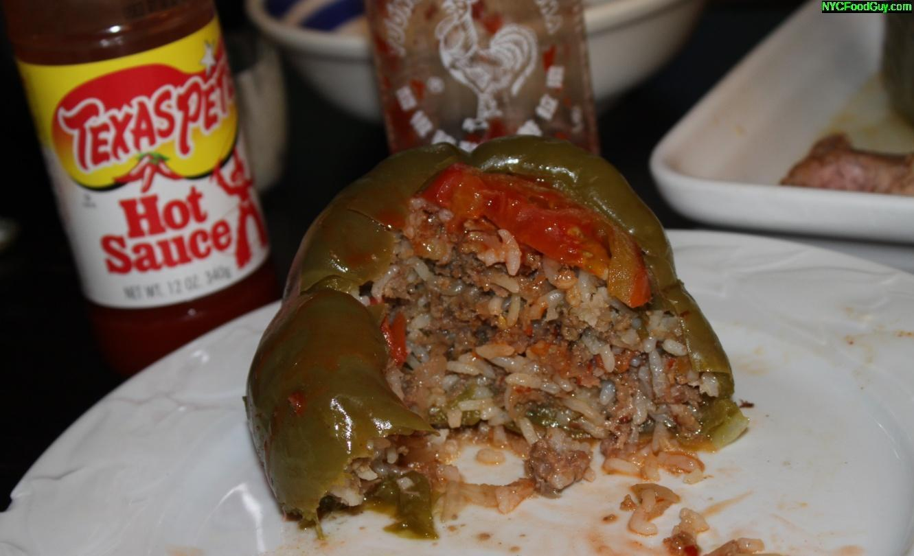 Turkish Stuffed Peppers - NYCFoodGuy.com