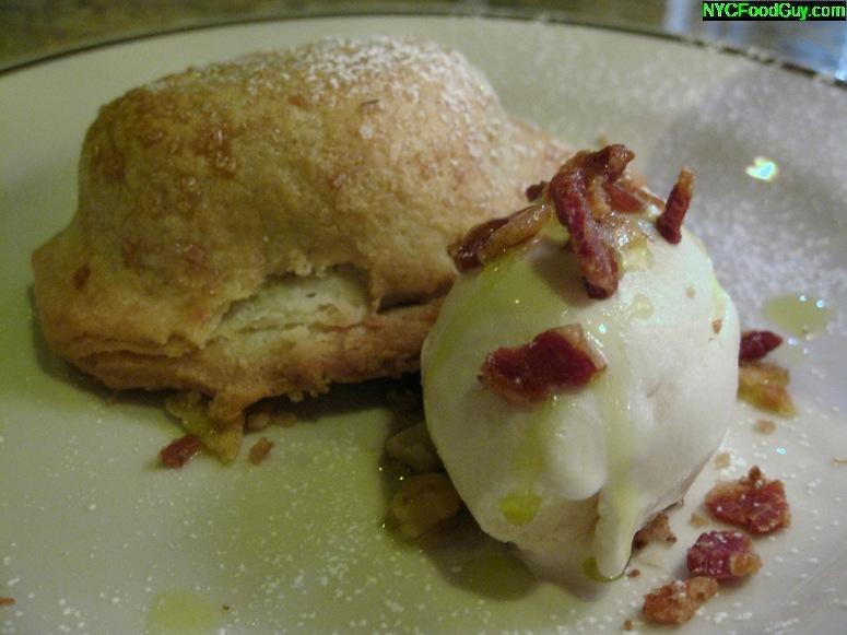 Village Tart's apple turnover with bacon vanilla ice cream - NYCFoodGuy.com