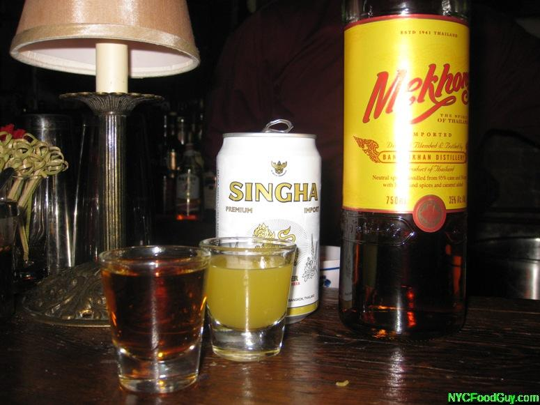 Tong Po Pickle Back Shot at Fatty Cue - NYCFoodGuy.com