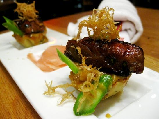 RedFarm's Kowloon Filet Mignon Tarts