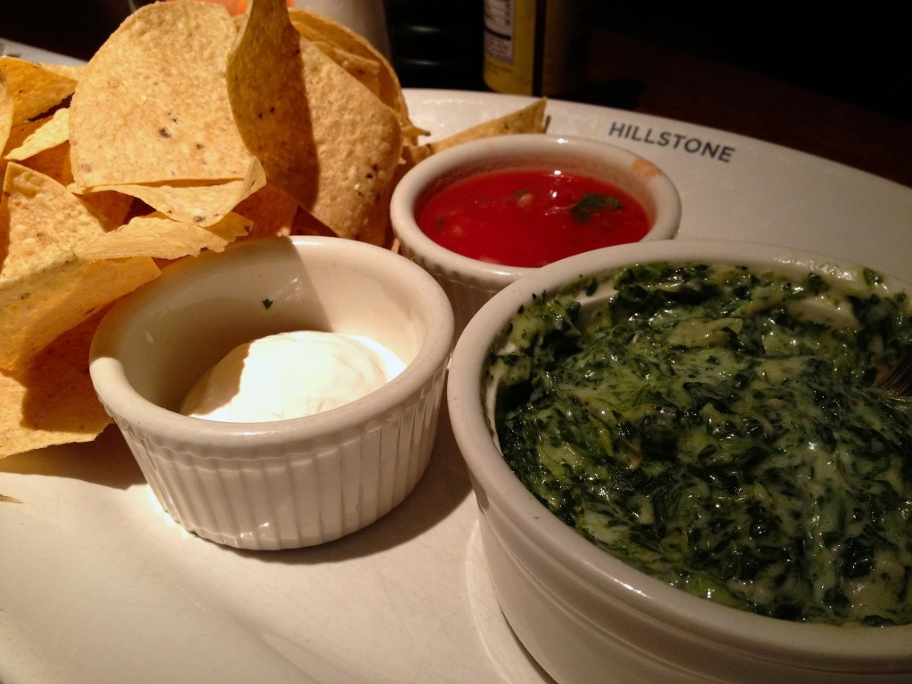 Hillstone's spinach artichoke dip