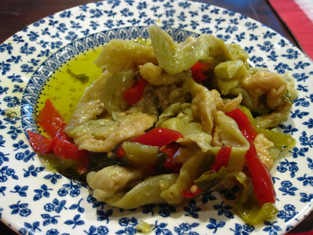 eggplant salad with peppers
