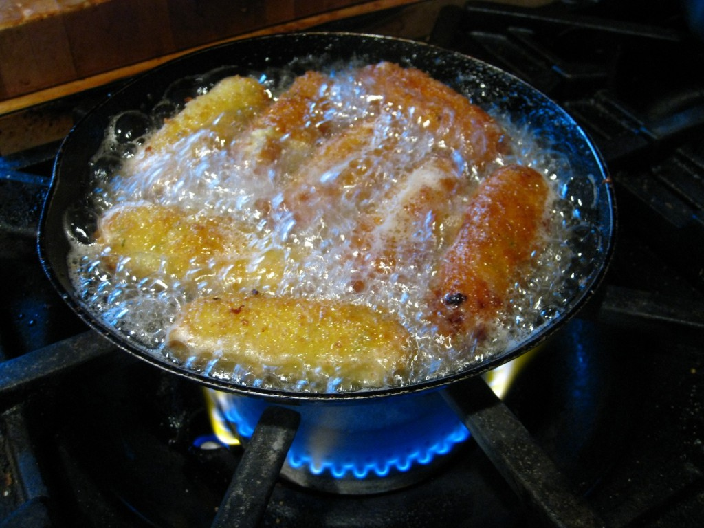 potato croquettes frying