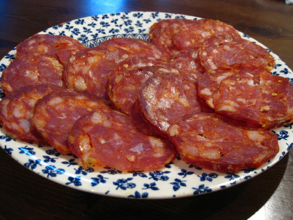 soppressata house cured, smoked and dried