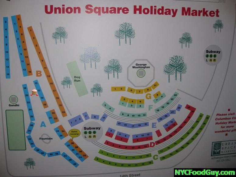 Union Square Holiday Market Map - Find the cupcake, Find sSS