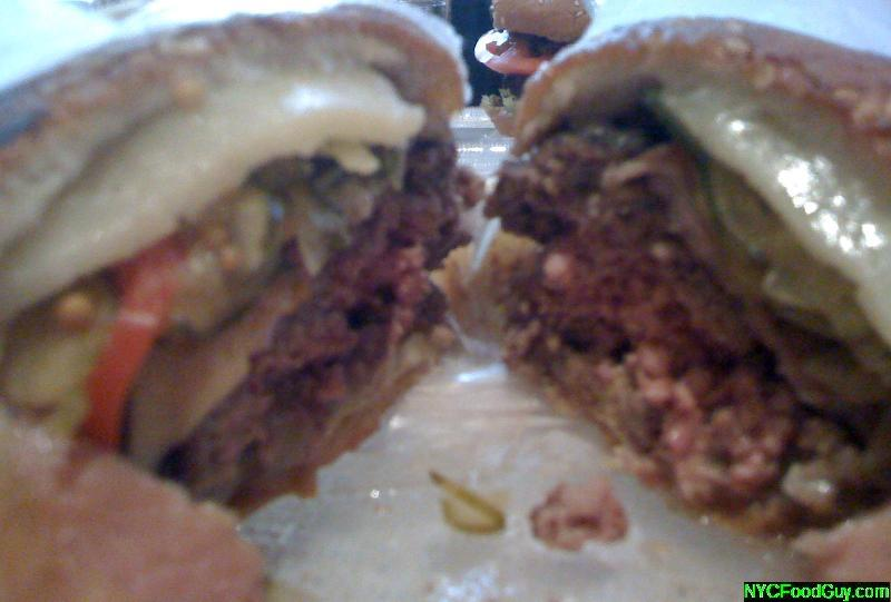 Mesa Grill Cuban Burger Cross Section