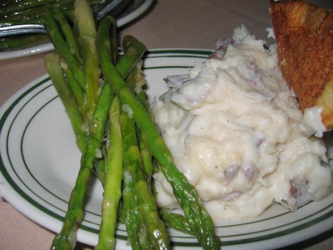 Sauteed Asparagus & Mashed Potatoes