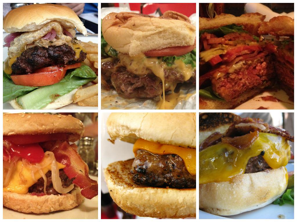 burger collage